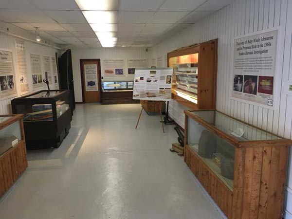 "Fort William Henry Museum exhibit entitled ""Underwater Archaeology—The Sunken Fleet of 1758."""