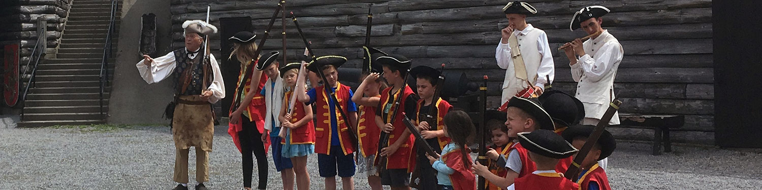 Kids joining the King's Army at Fort William Henry